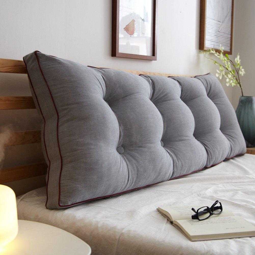 bedside back cushion/pillow/sofa soft bag/two-person long pillow/bed cushion -A 100x20x50cm(39x8x20inch)
