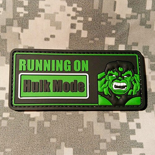 Hulk Mode On - PVC Morale Patch, Velcro Backed Morale Patch - Avengers Patch by NEO Tactical - Stores Sf Square Union In