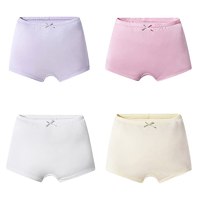 Mädchen Boxershorts,4 Pack Panty Hipster