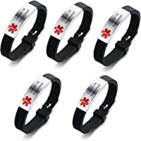 ZKXXJ 5Pcs COVID-19 Vaccinated Medical Bracelet for Men Women Boys Girls, Silicone Wristbands, Bracelets for Vaccination…