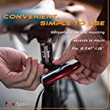 Fox-Sportive-Red-LED-Rear-Bike-Light-USB-Rechargeable-Bicycle-Tail-Light-Super-Bright-100-lm-6-Light-Modes-Waterproof-180-degree-For-Cycling-Safety-Flashlight-Easy-Install-on-Bicycles-Helmets