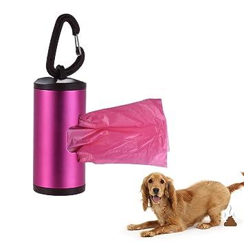 Decdeal - 15 Bolsas de Excrementos con Dispensador y Gancho para Perros