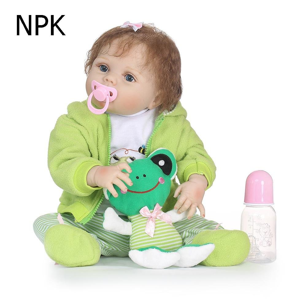 chinatera NPK Waterproof Lovely Soft Silicone 3D Lifelike Simulation Reborn Baby Doll Kids Playmate Doll Toys Gifts by chinatera (Image #2)
