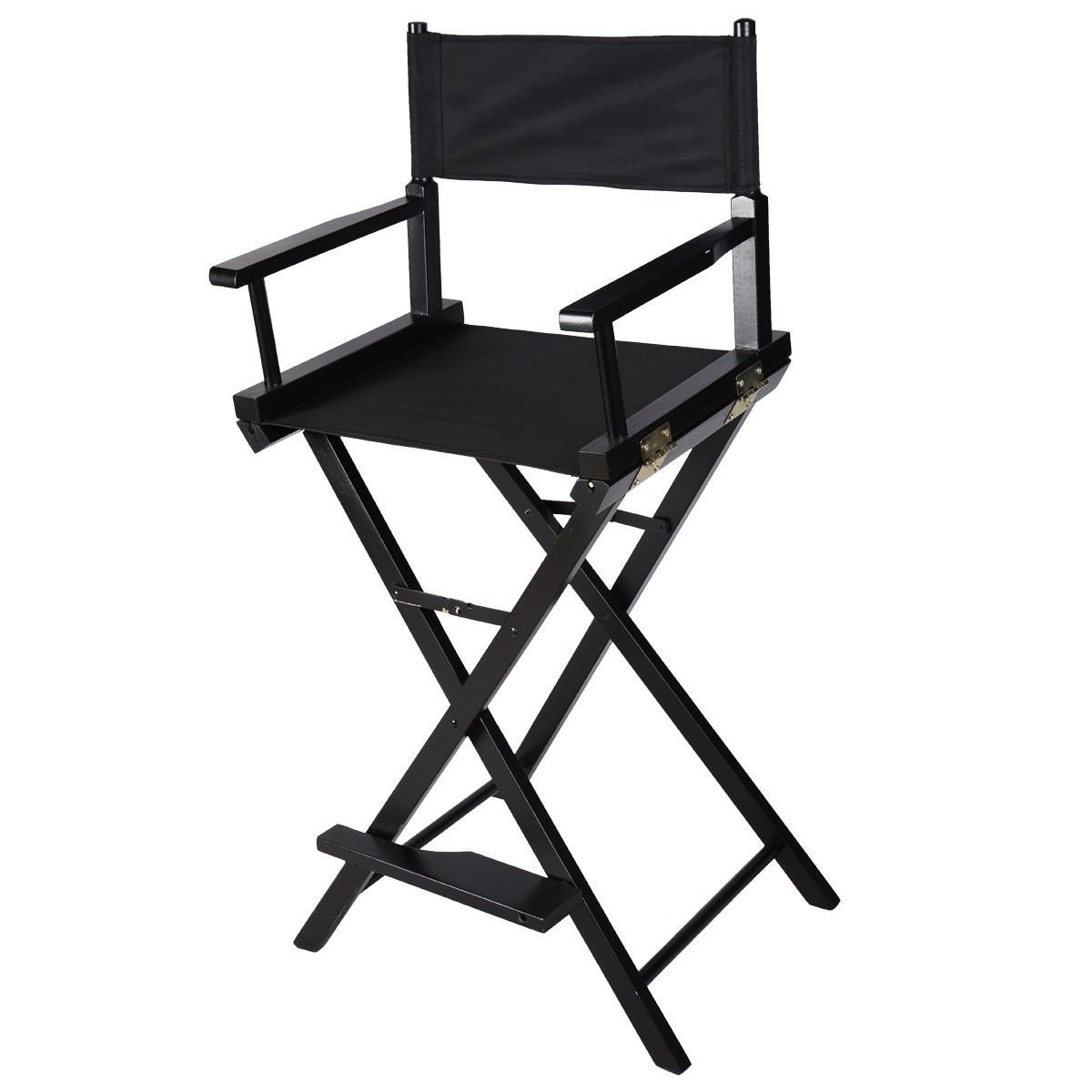 New Professional Makeup Artist Directors Chair Wood Light Weight Foldable Black