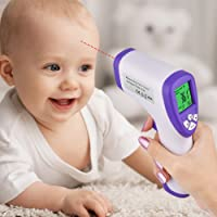 HailiCare Digital Infrared Forehead Handheld Medical Thermometer with Non-Contact Instant Read Fever Alarm Function Professional Accuracy for Body Objects Liquid Room Home Use