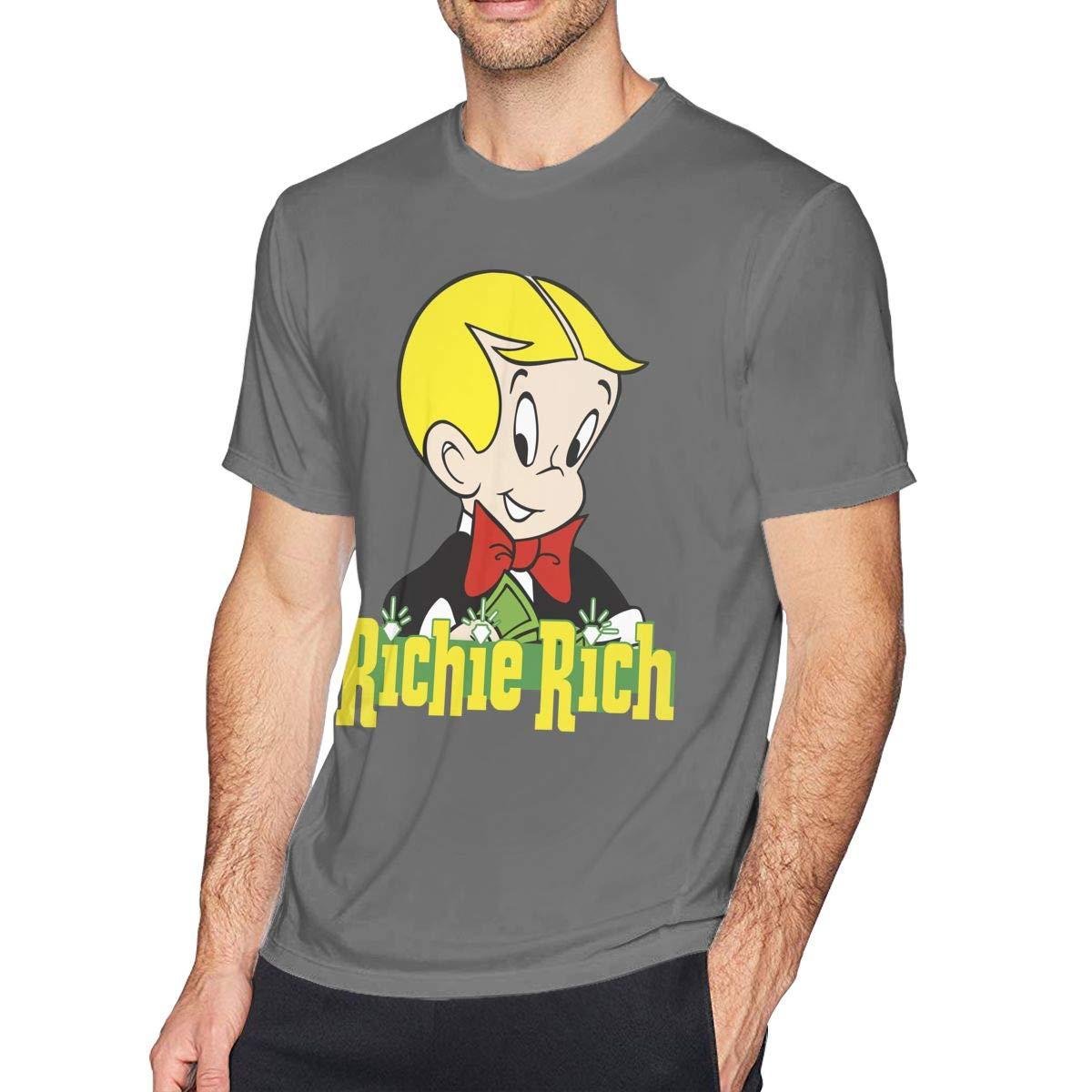 Mens Richie Rich Tee T-Shirt Black