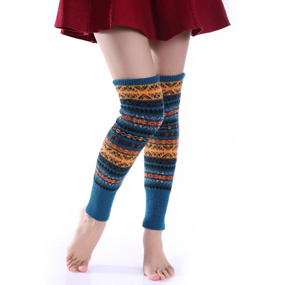 originaltree Multicolor Rayas rodilla alta calcetines para mujer de ...