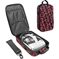 SIMUMU NEW Hard Travel Case for Oculus Quest 2 or Oculus Quest VR Headset and Controllers Accessories Carrying Case(Red)