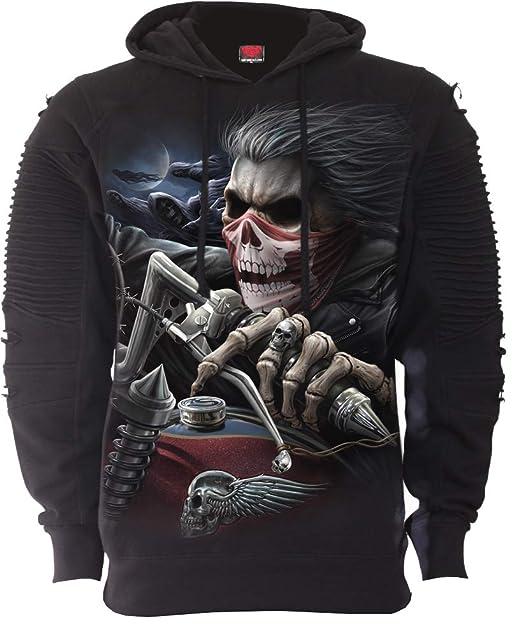 3b6fe4f0594d Amazon.com  Spiral - Soul Rider - Premuim Biker Fashion Mens Hoodie ...