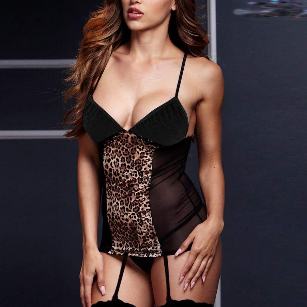 HROIJSL Women Lencería Sexy para Mujer, Talla Grande, diseño de ...