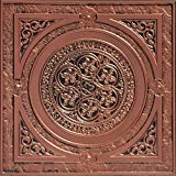 Steampunk-Faux Tin Ceiling Tile - Antique Copper 25-Pack