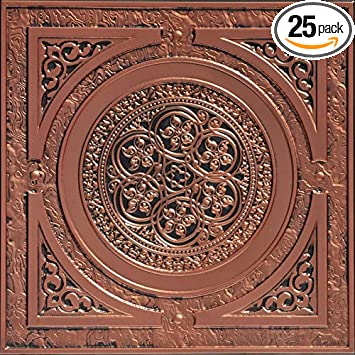 Pretty 1 Ceramic Tile Small 12 Inch By 12 Inch Ceiling Tiles Solid 12X12 Tiles For Kitchen Backsplash 12X24 Ceramic Floor Tile Youthful 24X24 Tin Ceiling Tiles Dark2X2 Ceiling Tiles Home Depot Steampunk Faux Tin Ceiling Tile   Antique Copper 25 Pack     Amazon