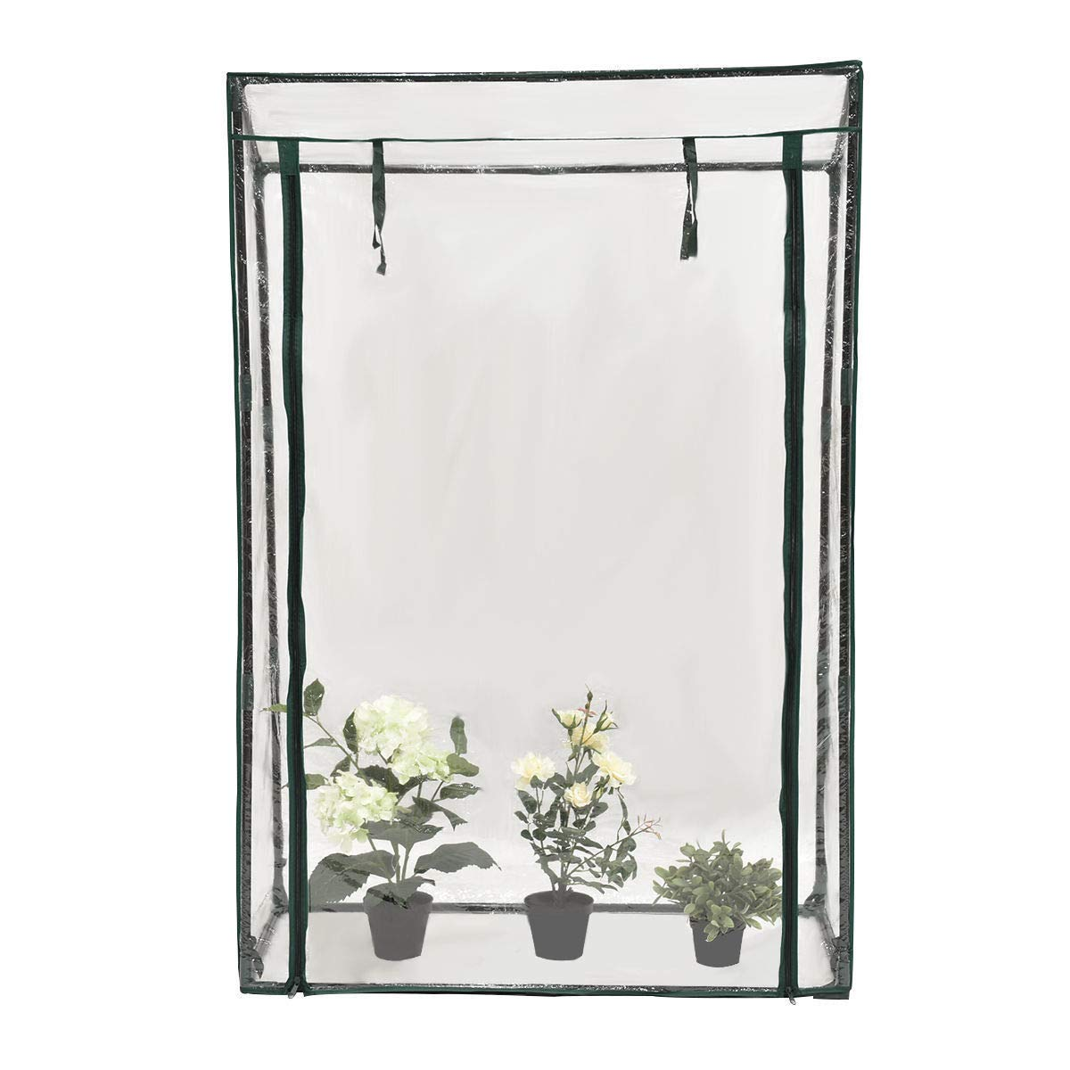 eyesonme Garden Greenhouse Grow House Plant Vegetable Grow Bag W/PVC Cover 40''x20''x59''