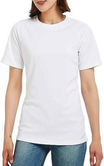 Safort Women Shirt/Polo Shirt, 2 Clothes Length for Regular/Tall, UPF 50 UV Sun Protection Clothing, Short Sleeve T-Shirt