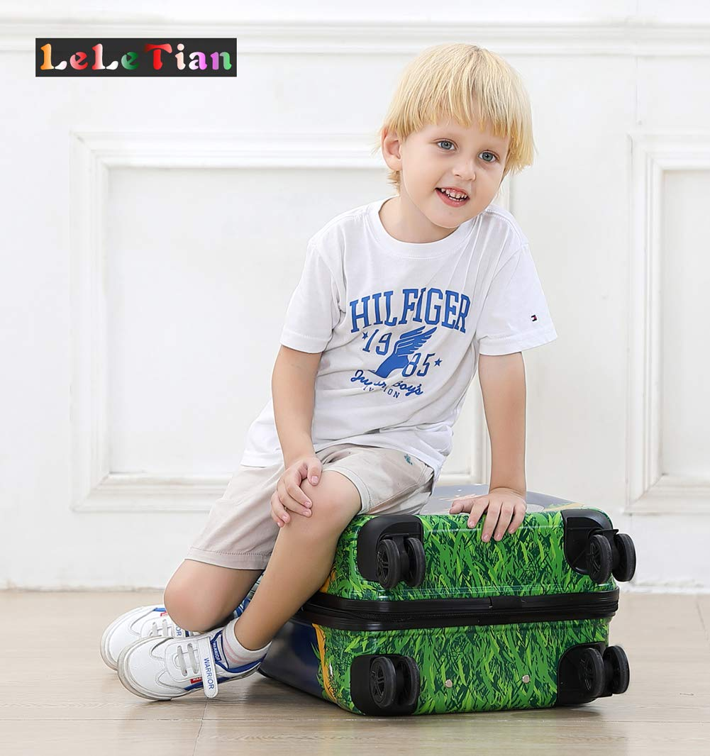 Boys Luggage Anti-scratch Suitcase 19in Hardshell Spinner Carry on PC+ABS Elephant LeLeTian by LeLeTian (Image #9)