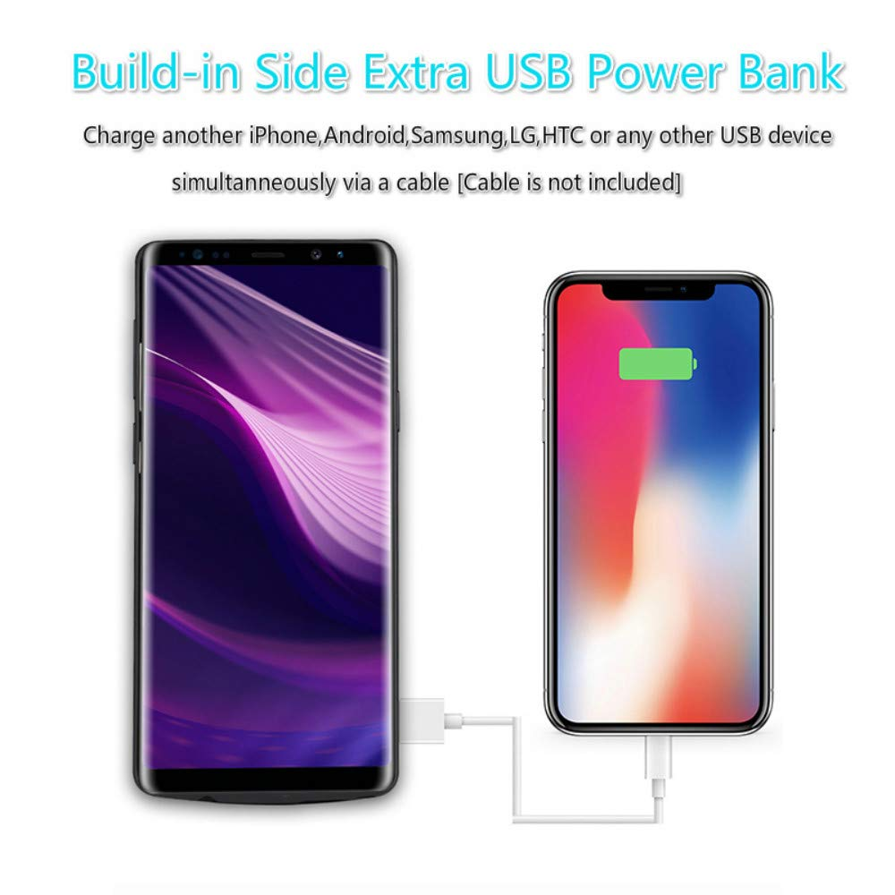 Portable Charging Case Extended Battery Pack for Samsung Galaxy Note 10 Fey-EU Battery case for Samsung Note 10 5000mAh 6.3inch Rechargeable Backup Charger Case with USB Power Bank /& Kickstand