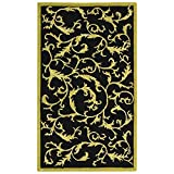 Safavieh Chelsea Collection HK307B Hand-Hooked Black Premium Wool Area Rug (2'9″ x 4'9″) For Sale