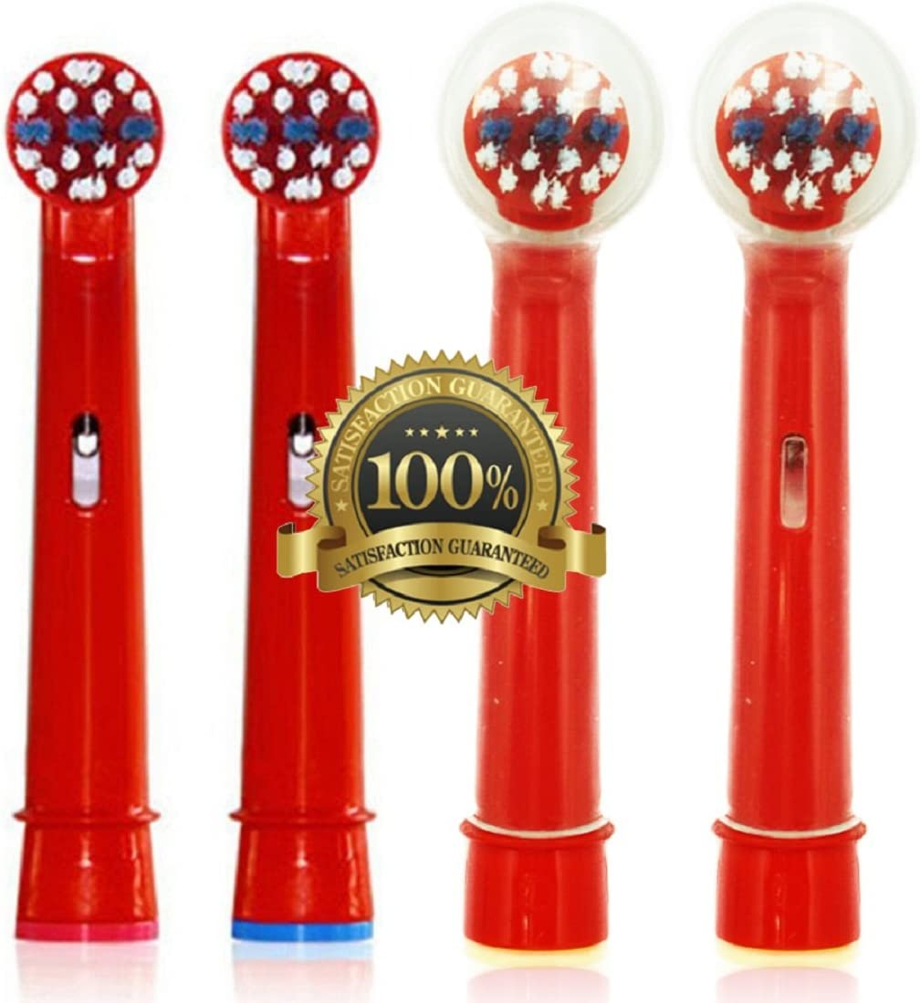 Drkao for Oral B Toothbrush Heads with 2 Head Covers for Children Replacement Toothbrush Heads Kids Electric Toothbrush Heads for Children for Oral B