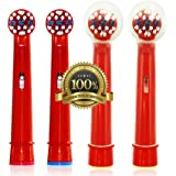 Dr. Kao For Oral B Toothbrush Heads for Kids with 2 Head Covers Replacement Toothbrush Heads Kids Electric Toothbrush Heads for Children for Oral B Replacement Heads  Kids for Oral-B Replacement Heads 4 Pack