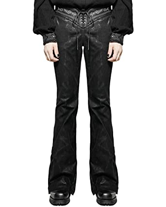 621c0b9ecf Punk Rave Mens Pants Jeans Black Flared Bootcut Gothic Dieselpunk Rock Star  VTG: Amazon.co.uk: Clothing