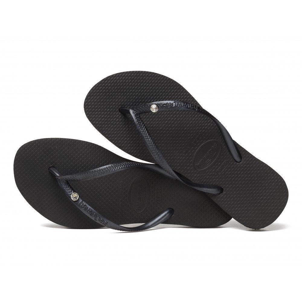 c477d5e9e Womens Havaianas Crystal Glamour Black Flip Flops SIZE 3/4 BRA 35/36:  Amazon.co.uk: Shoes & Bags