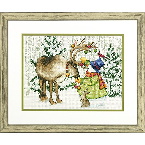Dimensions Counted Cross Stitch Kit, Ornamental Reindeer', 14 Count White Aida Cloth, 12'' x 10''