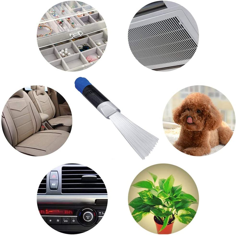 Dust Cleaner Brush for Car Keyboards Drawers Air Vents Pets Blue Nifogo Vacuum Attachment Duster Tubes IInterface Tool