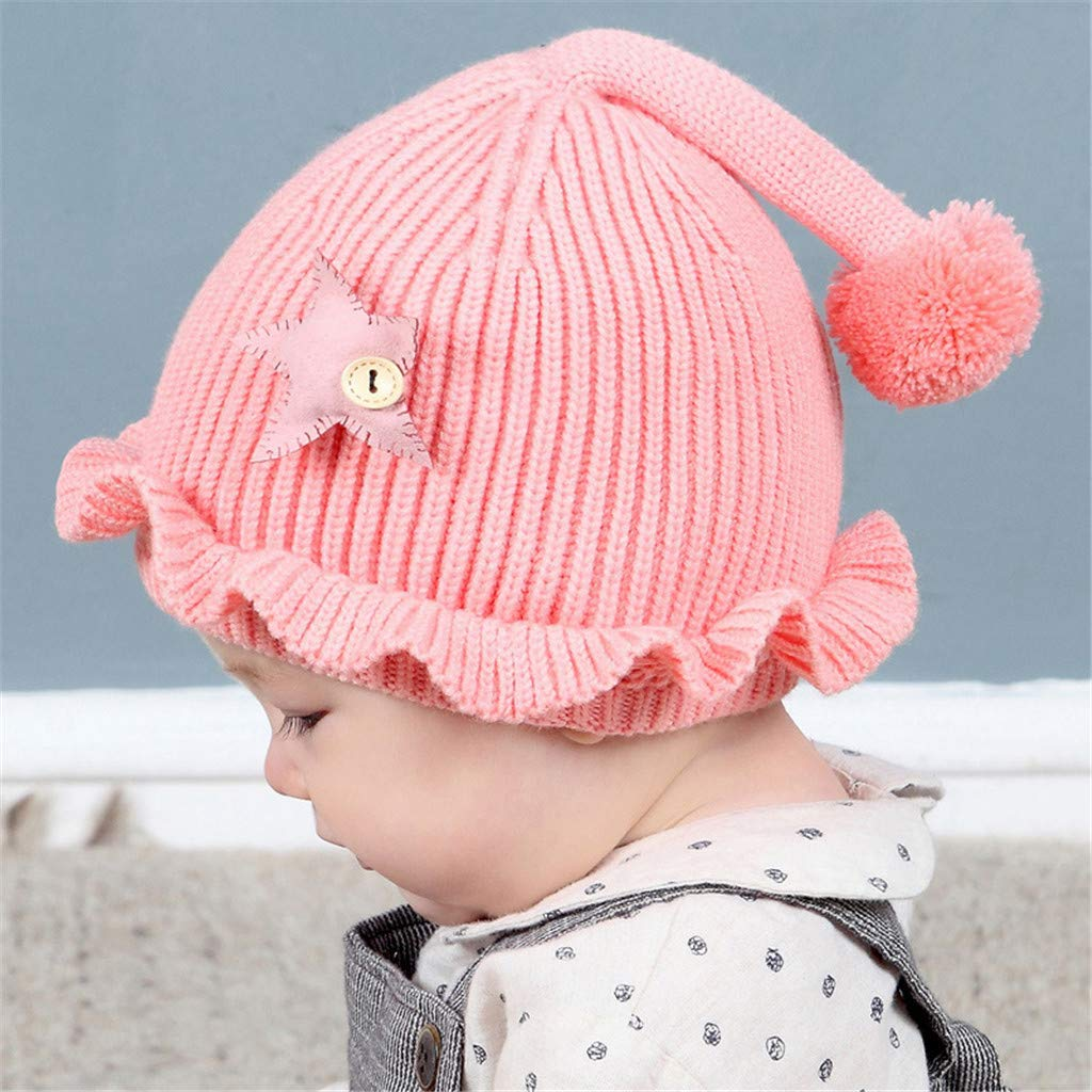 Vinjeely Toddler Baby Boy Girl Beanie Cap Scarf Solid Star Tail Warm Knit Hat