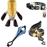 Halo Dog Gift Set: Leash, Collar, Tugger Toy, & Plush Chew Toy