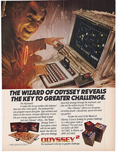 1982 Vintage Magazine Advertisement The Wizard Of Odyssey The Keyboard -