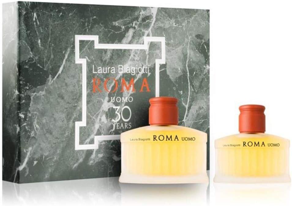 Giosal - Estuche Laura Biagiotti Roma para hombre con perfume EDT 125 ml + After Shave 75 ml: Amazon.es: Belleza