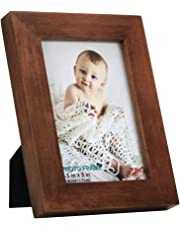 RPJC 4x6 inch Picture Frame Made of Solid Wood and High Definition Glass for Table Disply and Wall Mounting Photo Frame