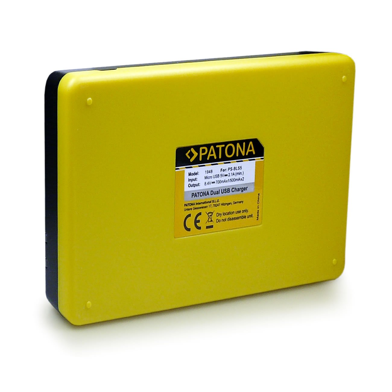 Patona Dual Charger/for Olympus PS-BLN1 OMD EM5/Mark II Stylus XZ-2/Pen E-P5/E-M1/E-P5/Battery with Micro USB Cable