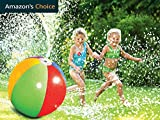 Yeslike Splash and Spray Ball, 30in-Diameter Inflatable Sprinkler Water Ball Outdoor Fun Toy