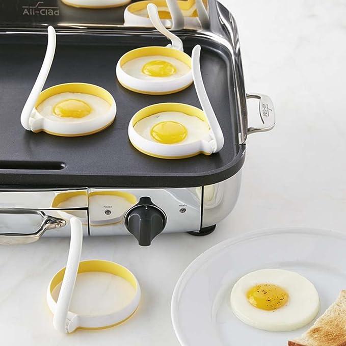 Compra D DOLITY Ronda Anillos de Huevo Moldes de Panqueques con Mango Accesorios Herramienta de Cocina en Amazon.es