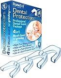 Ferula dental para bruxismo (4)| 100% libre de BPA | Tecnología de fácil moldeado | Paquete de seis protectores dentales…