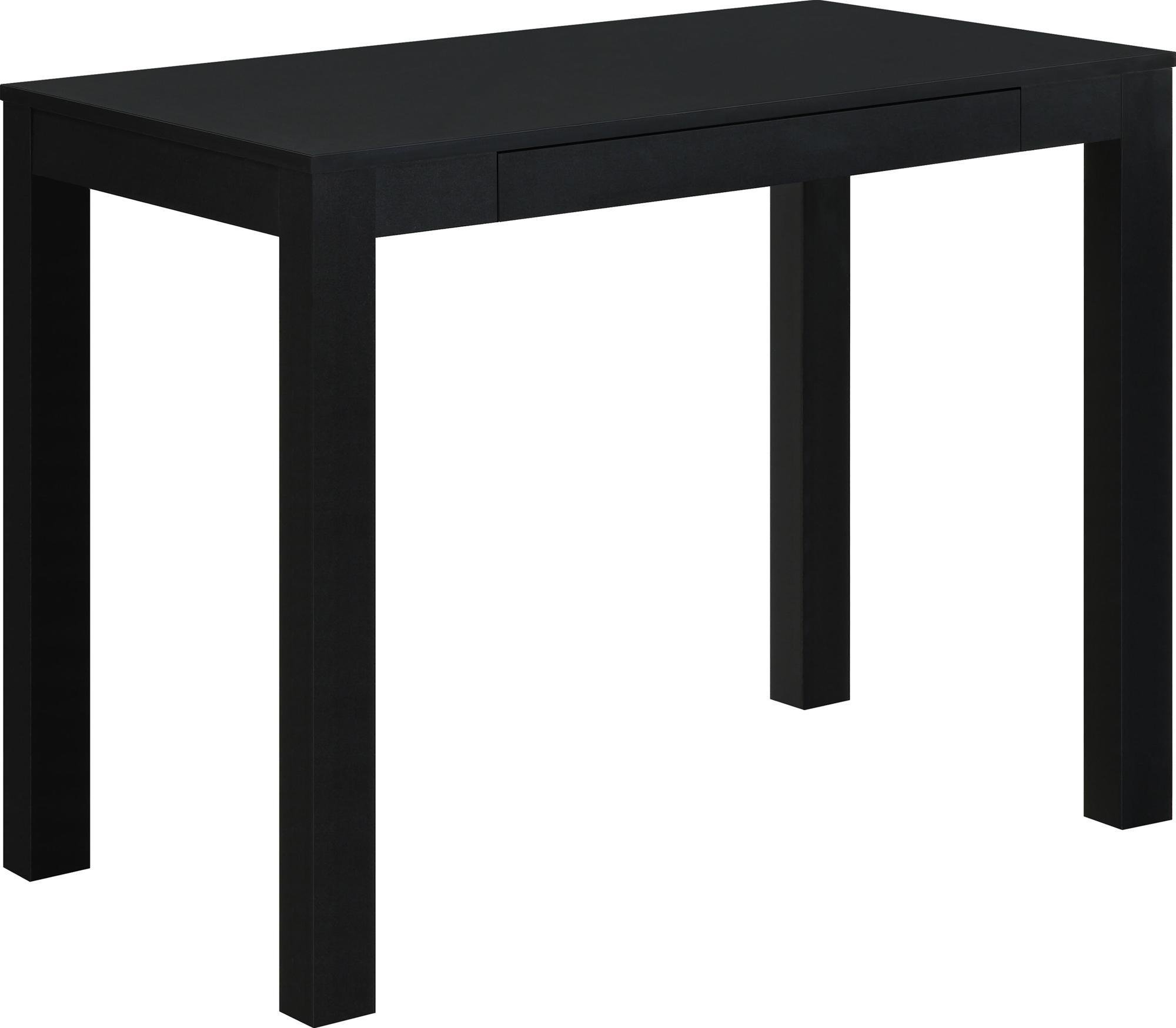 Ameriwood Home Parsons Desk with Drawer, Black by Ameriwood Home