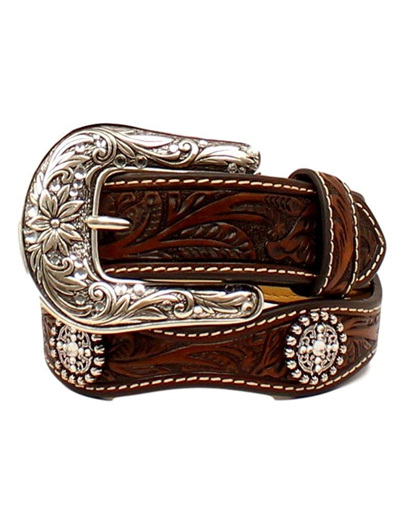 Ariat Girls Floral Scalloped Edges Belt