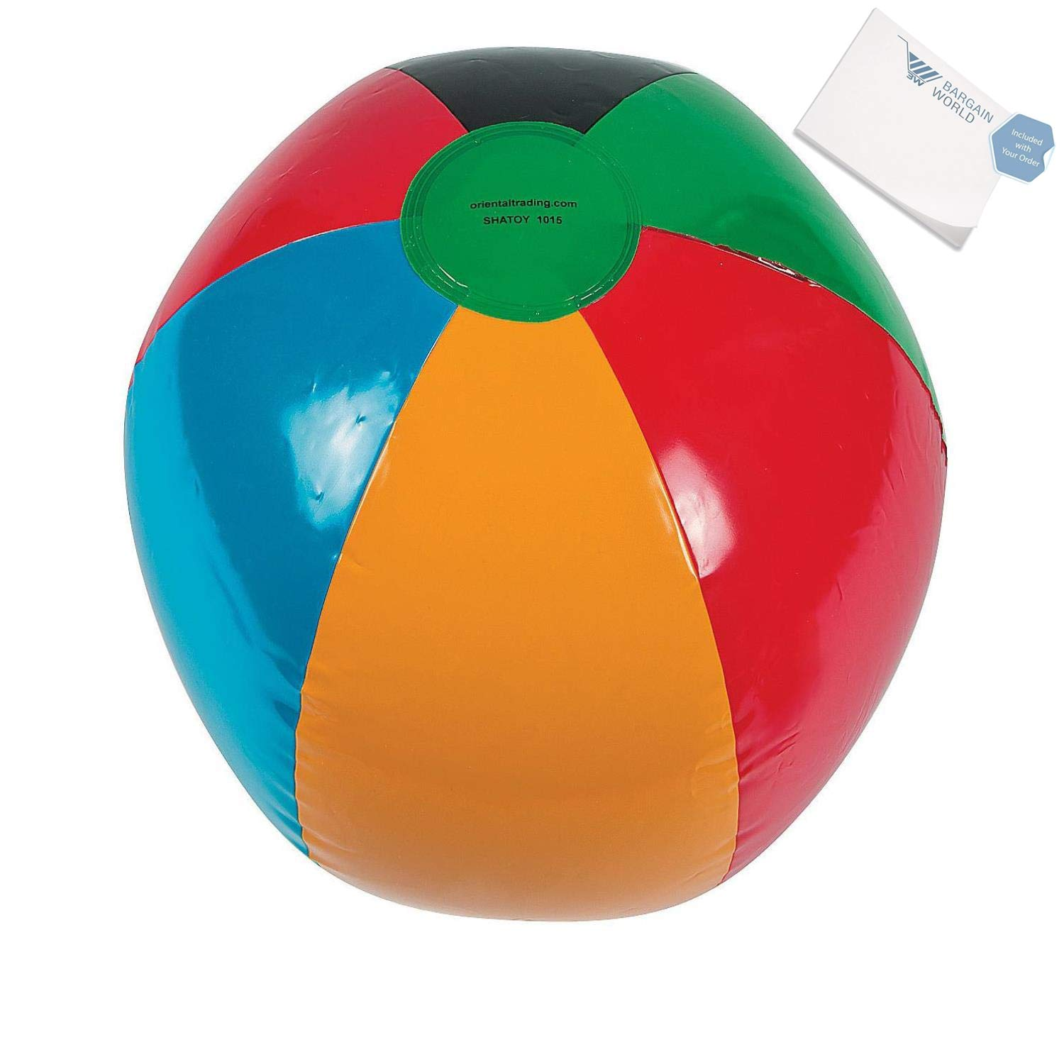 Bargain World Iatable International Games Beach Balls (With Sticky Notes)