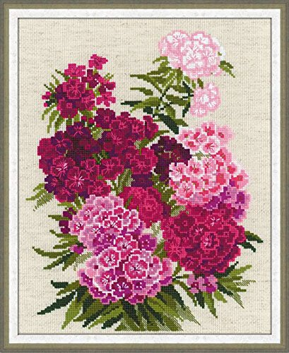 RIOLIS 1463 - Sweet William - Counted Cross Stitch Kit - 9.5
