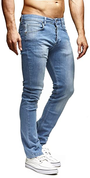 LEIF NELSON los Hombres Pantalones Vaqueros del Estiramiento de los Pantalones Vaqueros Pantalones del Ocio LN1205BL-RF