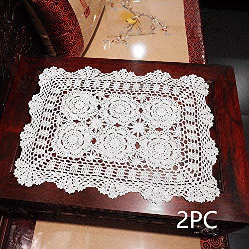 Damanni Rectangular Handmade Crochet D%C3%A9cor%EF%BC%8C2PC product image