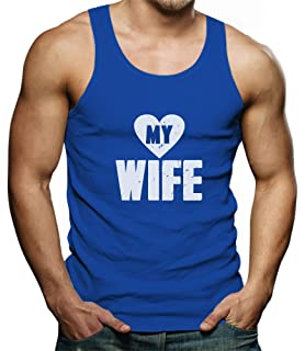 1bbcaa757 Tstars TeeStars - Love My Wife - Matching Couples Gift For Valentines  Singlet