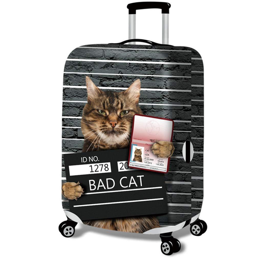 18-20 Zoll 3D Gef/ängniskatze Cover Travel Kofferabdeckung Schlechte Katze H/ülle Kofferschutz Luggage Cover Gep/äckabdeckung Kofferschutzh/ülle fit 18-32inch Gep/äck,Bad Cat 1,S