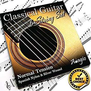 Stagg Normal Tension Nylon Silver Plated CL-NT-AL Strings Classical Guitar New