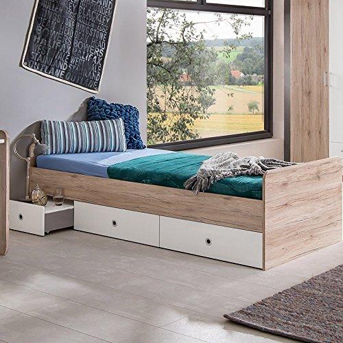 komplett jugendzimmer set sanremo eiche wei schreibtisch. Black Bedroom Furniture Sets. Home Design Ideas