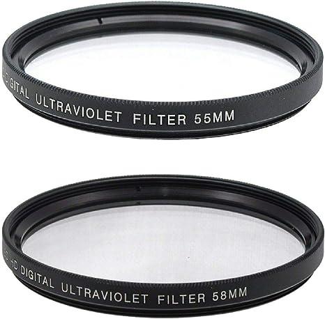 Filtro protector ultravioleta de 55 mm y 58 mm, con varias capas ...