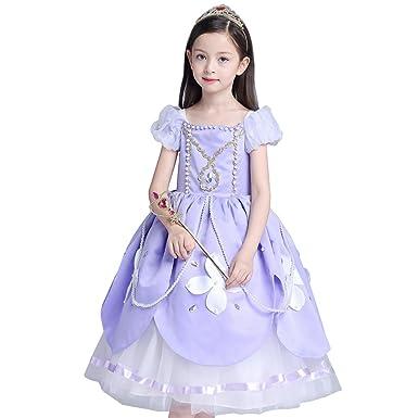 Das beste Sofia Rapunzel Kostüm Kinder Glanz Kleid Mädchen ...