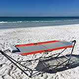 Sporting Goods : Kijaro Coast Portable Beach Breeze Hammock with Cup Holders and Pillow