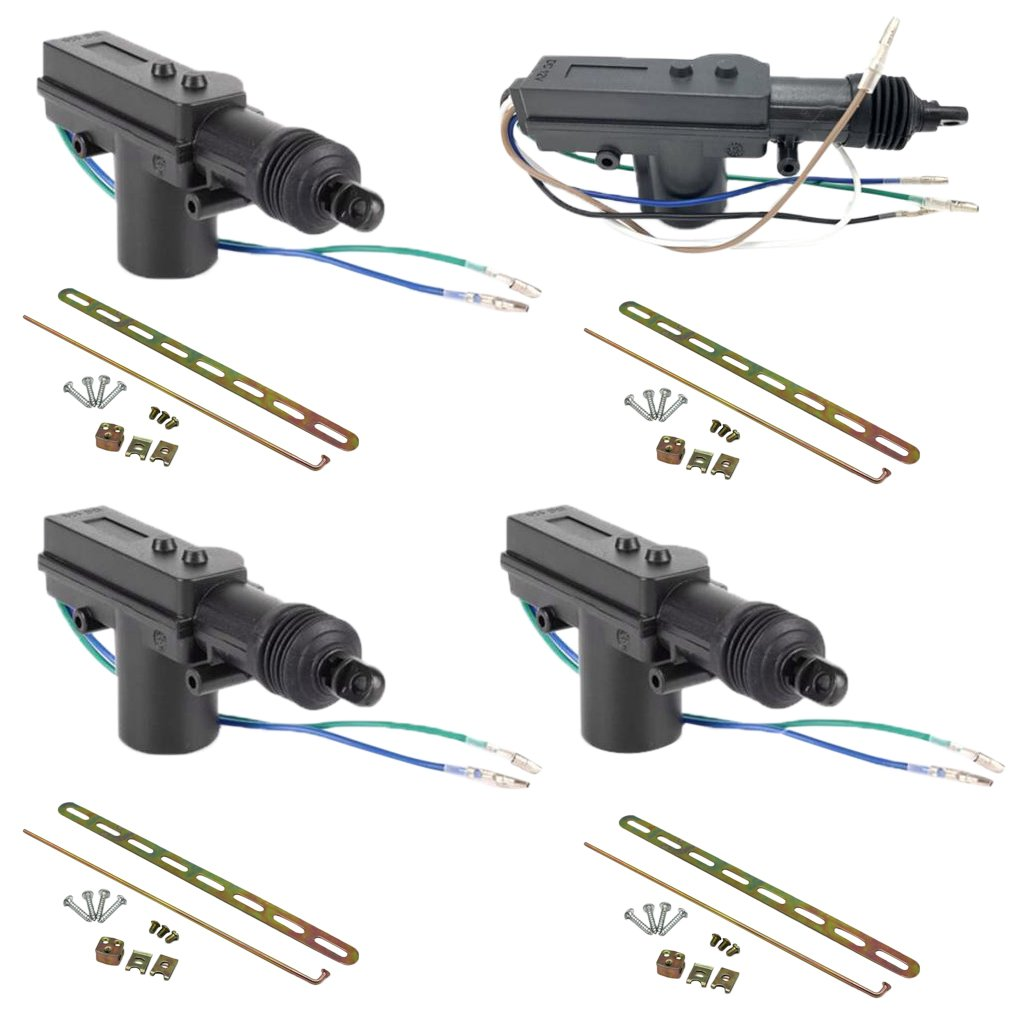 MagiDeal High Quality 4Pcs Car Auto Door Lock Actuator 2/5 Wires 12V Locking System